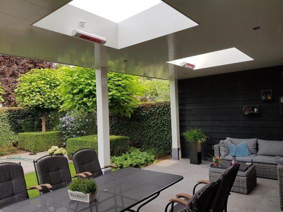 terrasverwarming in lichtkoepel