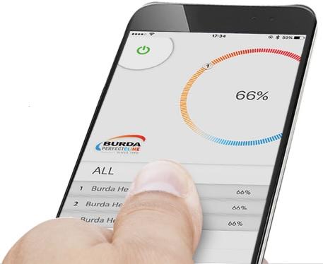 Telefoon met Burda App